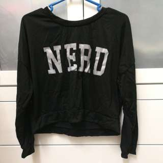 Nerd cropped sweater #Midyearsale