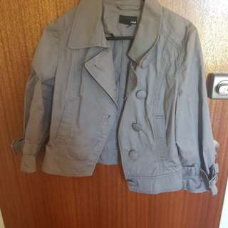 H&M grey short jacket