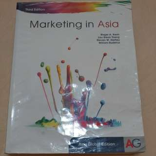 MKT1705 textbook - Marketing in Asia (3rd Edition) by McGraw Hill Education