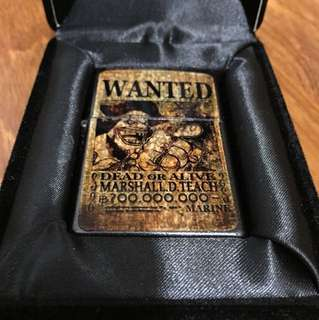 """IN EXCELLENT CONDITION! Rare Collectible One Piece """" Marshall D. Teach"""" Lighter"""