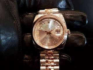 PREOWNED ROLEX Datejust 36, 116231 Everose Rolesor, 18Ct Half Everose Gold Steel, 36mm, Men-size, D Series @ Year 2005 Mens Watch