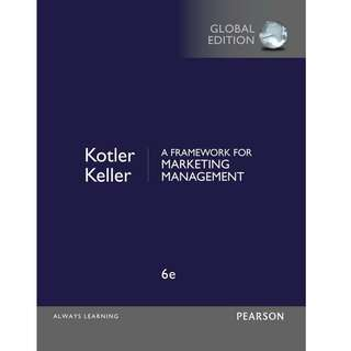 Framework for Marketing Management (6th Edition) Global
