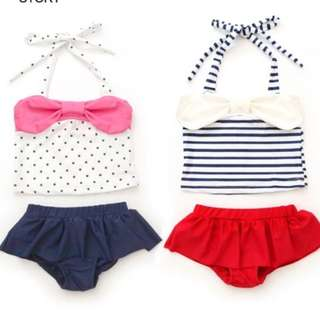 *Brand New* Babies Toddlers Swimwear Polka Dot and Stripes Swimming Costume