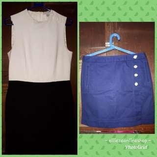 H&M Black and White Dress and Nautica Skirt