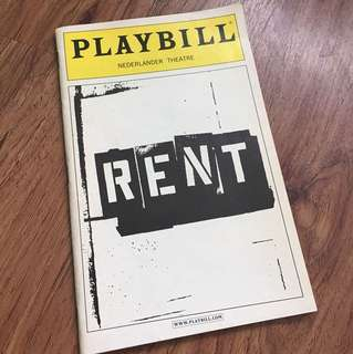 Broadway Playbill for Rent The Musical