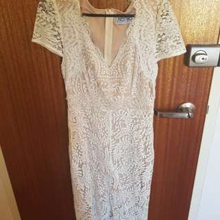 Xenia white lace dress