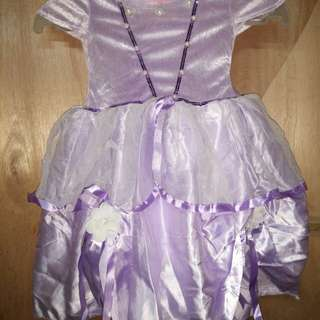Preloved Sofia the first dress for 1-2yrs old