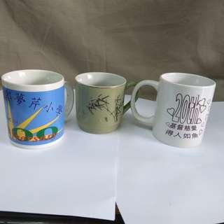 懷舊茶杯三個