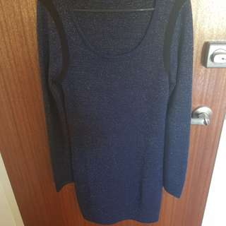 Sportsgirl navy knit dress