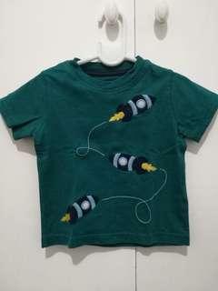 Rocketship print shirt