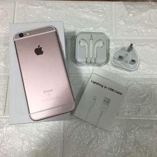 iphone6s 64g rose gold 100%original & work