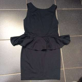 ASOS black Peplum Dress