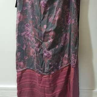 H&M x Madison Martin Margiela silk  apron skirt