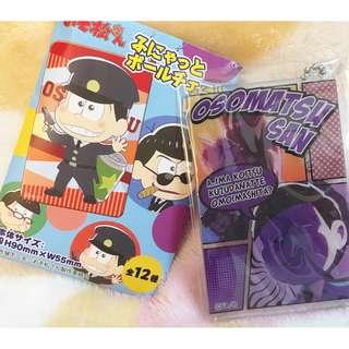 日本版 - 動漫卡通 おそ松さん 阿松 小松先生 松野 一松 膠制吊飾 鎖匙扣 Osomatsu Plastic keyholder