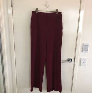 Portman's maroon pants