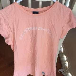 Peach Converse All star T-shirt