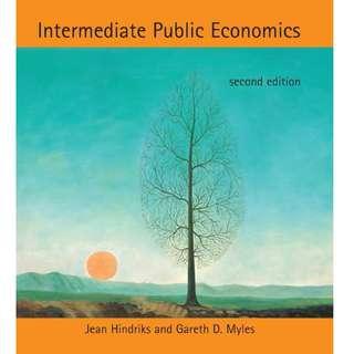 Intermediate Public Economics 2nd Edition