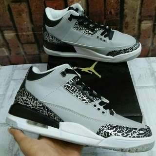 NIKE AIR JORDAN 3 RETRO WOLF GREY MIROR QUALITY