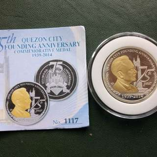 75th Quezon Cty Founding Anniversary Commemorative Medal 1939-20014
