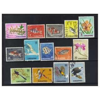 SINGAPORE 1962-1966 DEFINS USED CAT £18+ BL507