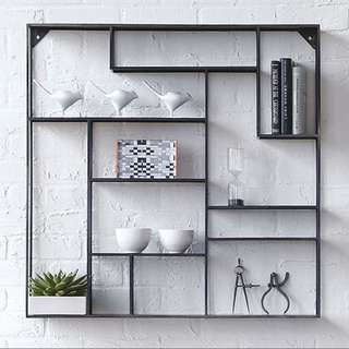 Loft Series - Minimalist Square Iron Wall Shelf