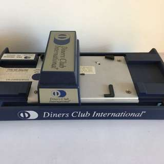 Old Credit Card Embossing device