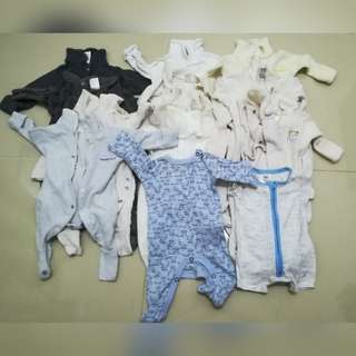 Free 15 used newborn Body Suit