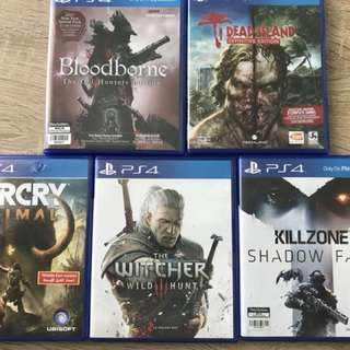 PS4 Games - The Witcher, Bloodborne...