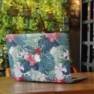 Forest Hibiscus Macbook Cover