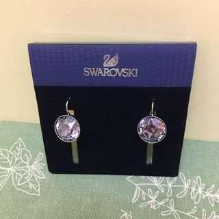 Swarovski 紫水晶耳環