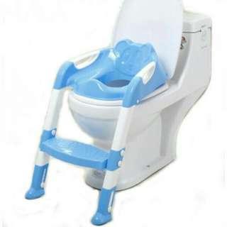 🔥Hot Sale!!🔥 Adjustable Ladder Baby Children Toilet Bowl Potty Training Kit (Blue/Pink) #MidJan55
