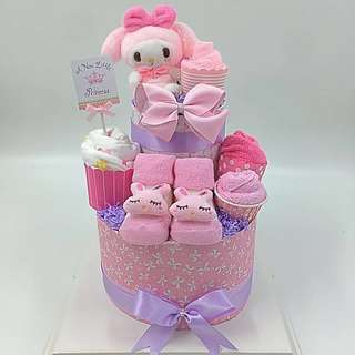 Baby Diaper Cake- My Melody 2-tier Diaper Cake