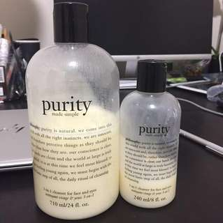 Philosophy purity 3in1 cleanser (set )
