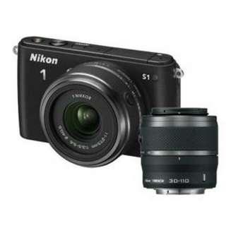Dp 10% Kredit Tanpa Kartu Kredit Nikon 1 S1 Double Zoom VR 10-30mm f 3.5-5.6 + 30-110mm