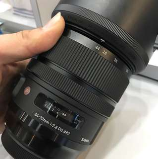 Sigma 24-70mm Art Lens for Canon, Under Sigma Malaysia warranty till July 2019