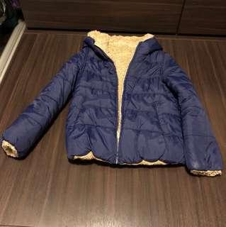 可兩面穿毛毛厚䄛 2 sides  reversible jacket with fur