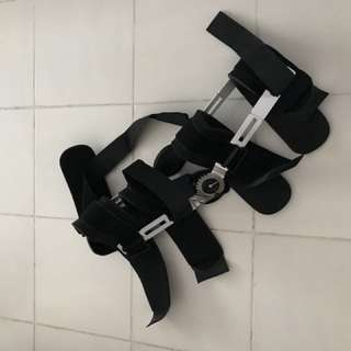 Post-op knee brace or bracket