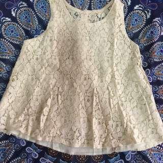 Cream sleeveless (preowned/preloved)