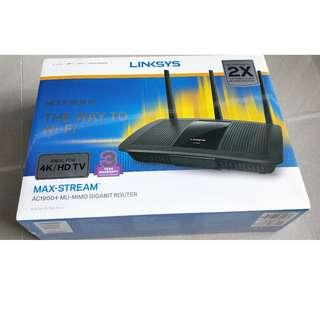 BNIB   LINKSYS EA7500-AHV2 MAX-STREAM™ AC1900+ MU-MIMO GIGABIT WI-FI ROUTER