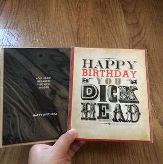 Typo Birthday Cards