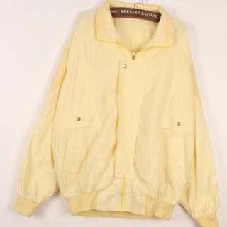 Vintage Thrift Windbreaker Jacket (Pastel Yellow)