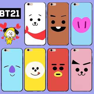 BTS BT21 Phone Case - IPhone / Oppo / Samsung / Vivo