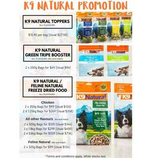 K9 Natural Freeze Dried New Year Promotion(Bundle Discount + Extra FREE topper)