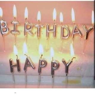 生日蠟燭 銀色 包郵