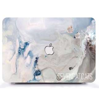 Sea Faux Marble Macbook Cover
