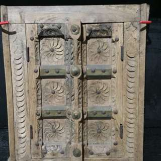 Omani Wall Display wood brass