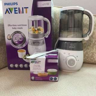 Philips Avent 4 in 1 Baby Food Maker (Halal Kitchen)