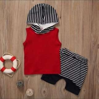 PO❗️ Cute babygirl/boys sleeveless outfit set [0-24 months & 2-4 years]