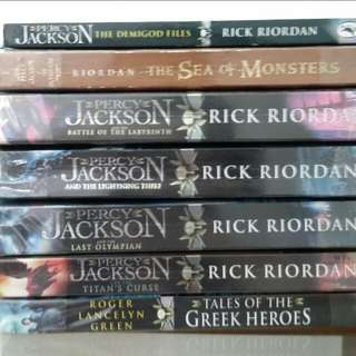 Percy Jackson Series, The Demigod Files And The Sea Of Monsters.