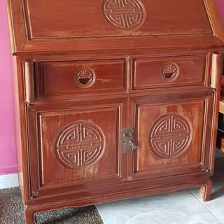 Rosewood study table n cabinet